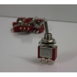 10x NEW Miniature Toggle Switches- SPDT ON/ON or can be sued as ON/OFF