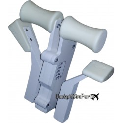 SAITEK SINGLE ARM DUAL HANDLES KIT V2 (White)