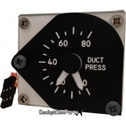 B737 OVH DUCT PRESSURE GAUGE