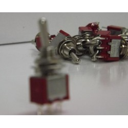 10x NEW Miniature Toggle Switches- SPDT ON/OFF/ON