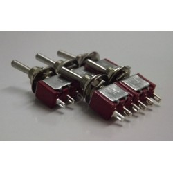 5x NEW Miniature Toggle Switches- SPDT ON/ON or can be sued as ON/OFF