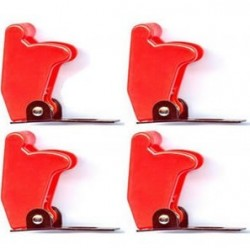 4x Boeing 737 Aircraft Style Toggle Switch Flip Up Cover RED