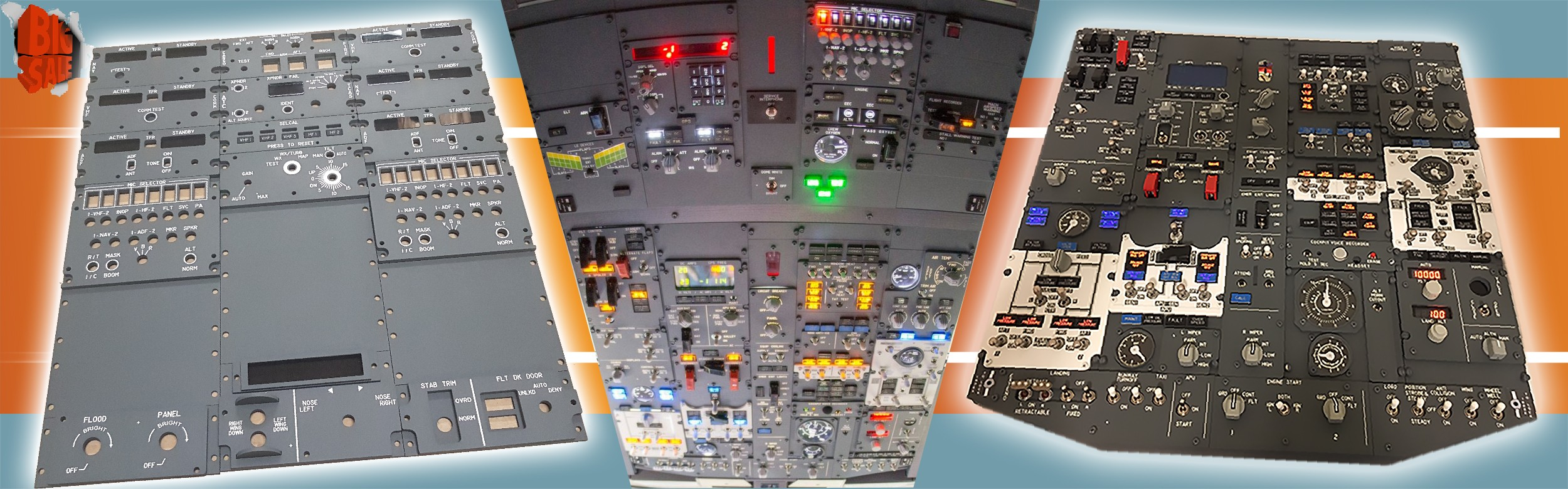 Cockpit Sim Parts Panels
